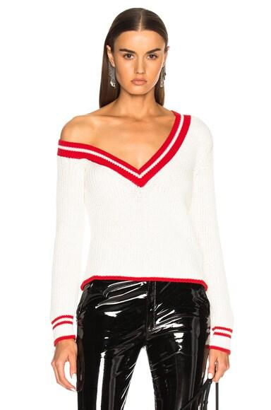 Asymmetrical Neck Sweater