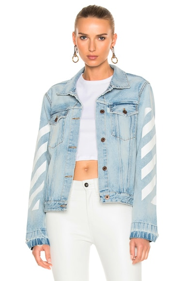 Diagonal Sleeve Denim Jacket