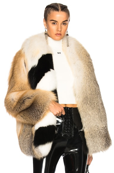 Fox Fur Coat with Stole