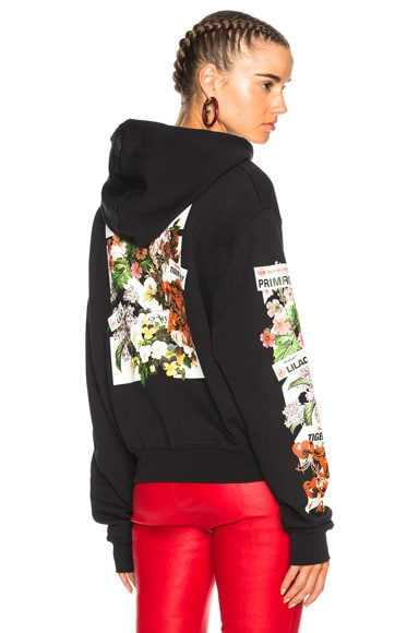 Diagonal Flower Shop Crop Hoodie