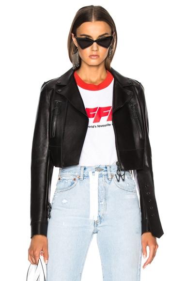 Woman Cropped Biker Jacket