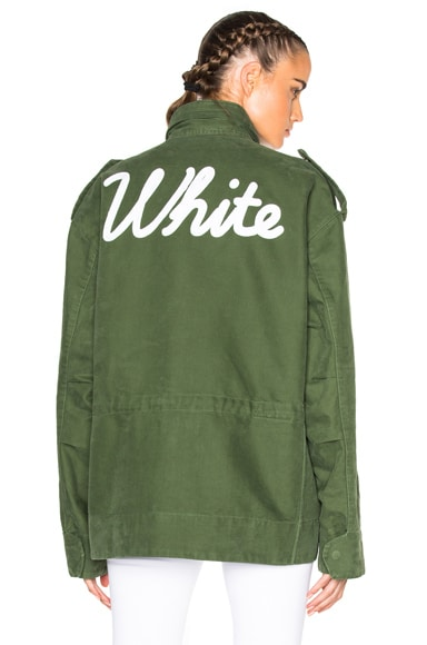OFF-WHITE Vintage White M65 in Military Green