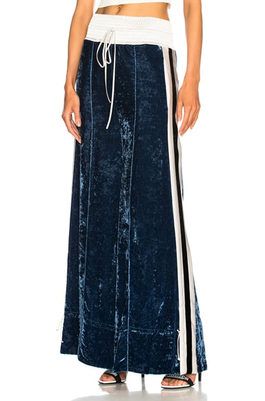 Ankle Tie Drawstring Velvet Pants