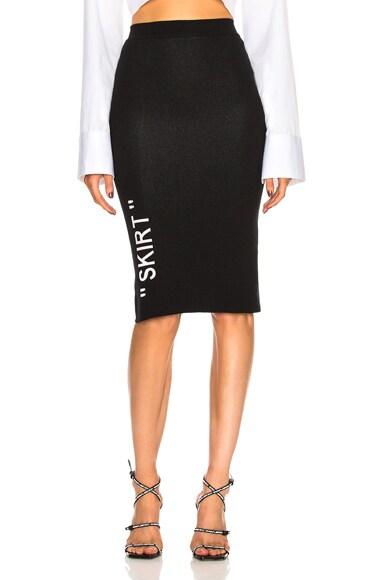 Longuette Knit Skirt