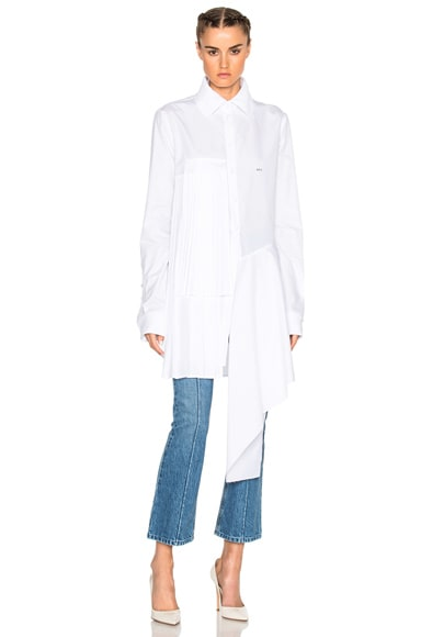 OFF-WHITE Small Pleats Shirt in White