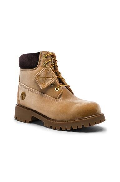 x Timberland Velvet Hiking Boots