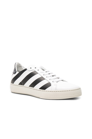 Classic Diagonals Leather Sneakers