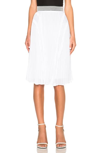 Ohne Titel Pleated Skirt in White