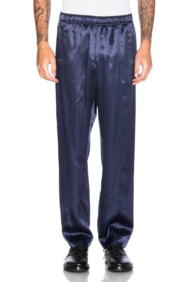 Opening Ceremony Silky Flannel Track Trousers in Ink