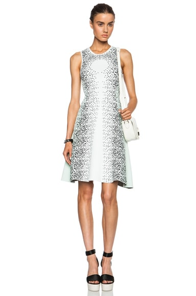 Opening Ceremony Speckle Flare Viscose-Blend Dress in White Multi