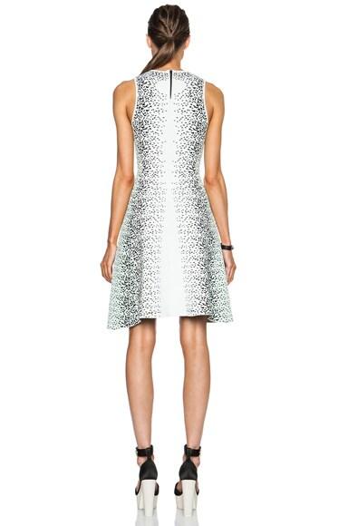 Speckle Flare Viscose-Blend Dress