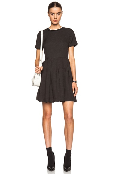 Opening Ceremony Ethan Boxy Poly-Blend Dress in Black