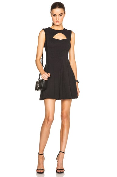 Opening Ceremony Brynn Jersey Cut Out Flare Dress in Black