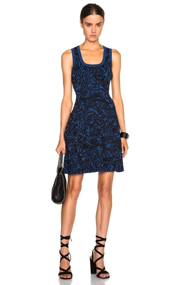 Opening Ceremony Cabbage Tank Flare Dress in Blueberry
