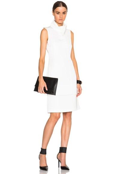 Opening Ceremony Oris Twill Funnel Neck Sleeveless Dress in White