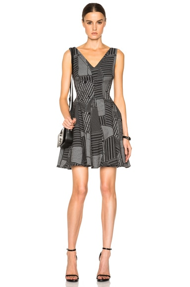 Opening Ceremony Parking Lot Flare Dress in Black Multi