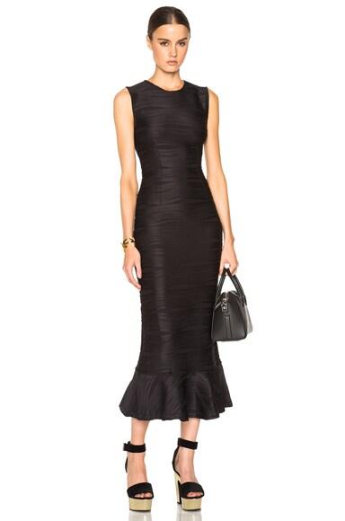 Opening Ceremony Wavy Stripe Maxi Dress in Black