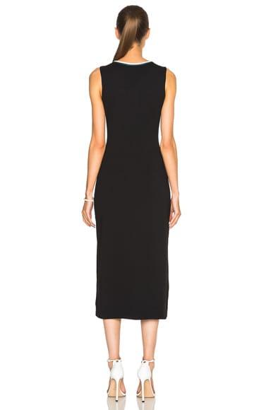 Piped Sleeveless Dress