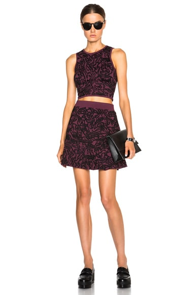 Cabbage Knit Flare Skirt