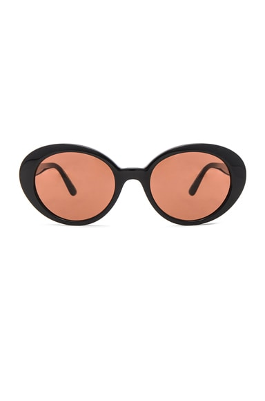 Oliver Peoples x The Row Parquet Sunglasses in Black & Persimmon