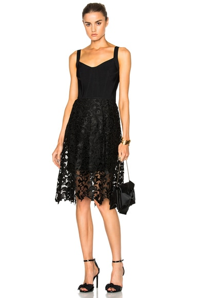 Oscar de la Renta Day Dress in Black