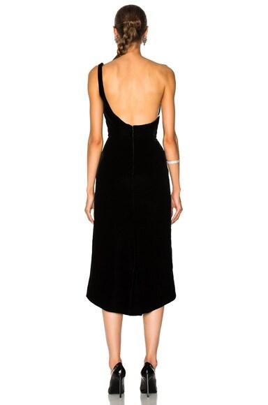 Velvet One Shoulder Cocktail Dress