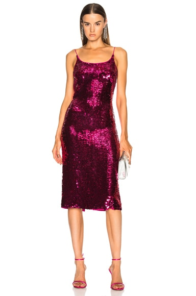 Sequin Low Back Slip Dress