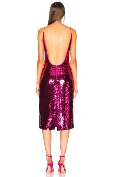 Sequin Low Back Slip Dress