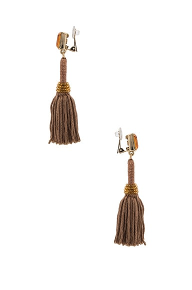 Short Silk Tassel Earrings