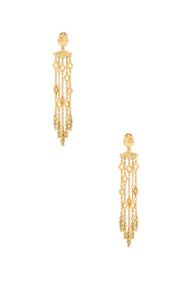 Oscar de la Renta Diamond Tassel Earring in Gold