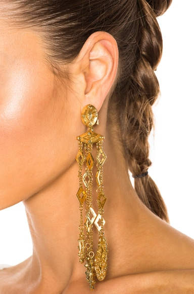 Diamond Tassel Earring