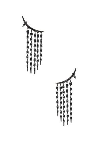 Tendril Crystal Earrings Oscar de la Renta