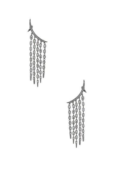 Tendril Crystal Earrings