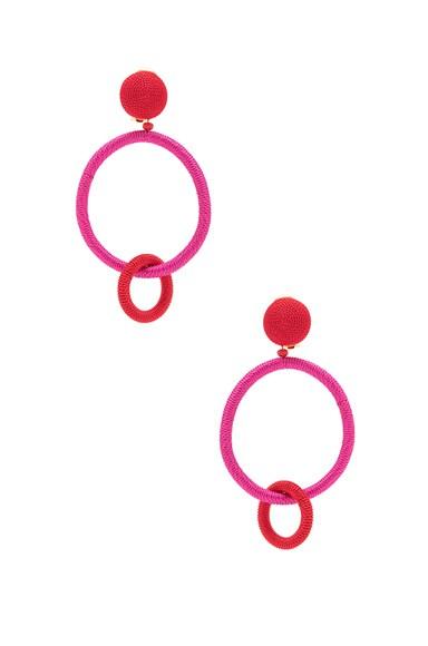 for FWRD Silk Double Hoop Earrings