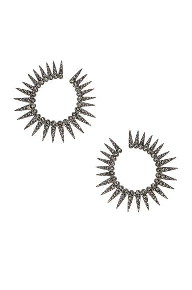 Sea Urchin Large Crystal Earrings