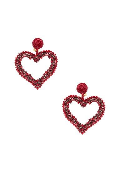 Jeweled Heart Earrings