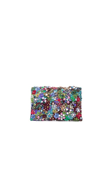 Embroidered Satin Petite Evening Bag
