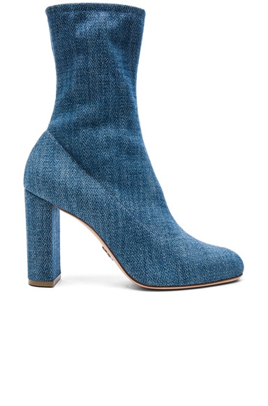 Oscar Tiye Giorgia Booties in Denim