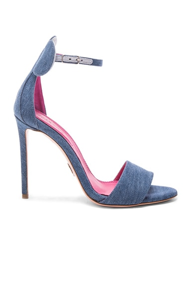 Oscar Tiye Denim Minnie Sandals in Blue Denim