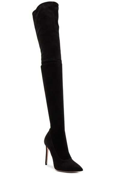 Lama Suede Thigh High Boots