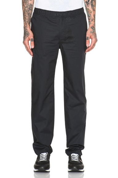 Our Legacy Relaxed Cotton Trousers in Navy