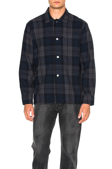 Our Legacy Box Shirt in Dark Tartan
