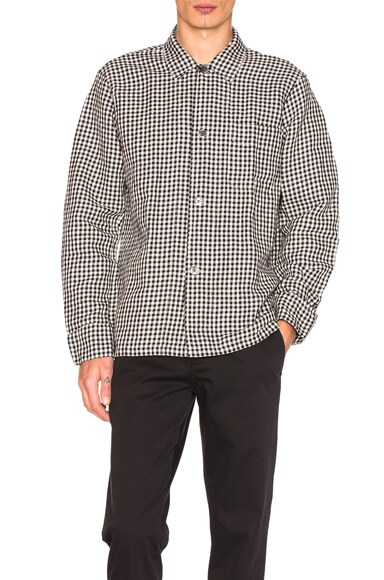 Our Legacy Box Shirt in Black Gingham