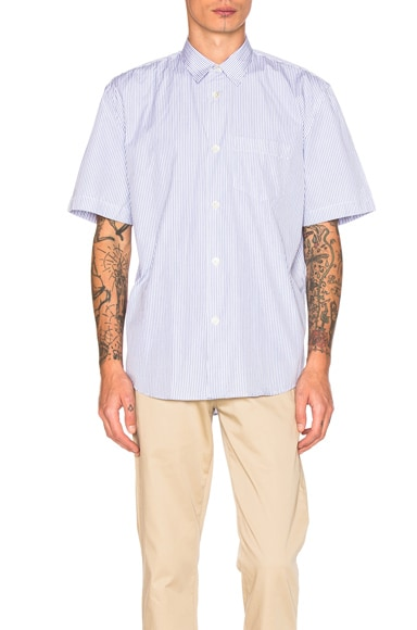 Our Legacy Short Sleeve Shirt in Light Blue