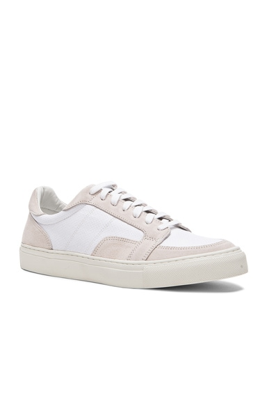 Our Legacy Suede Canvas Off Court Sneakers in White