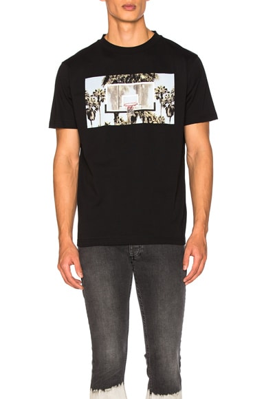 Palm Angels Buzer Beater Tee in Black & Multicolor