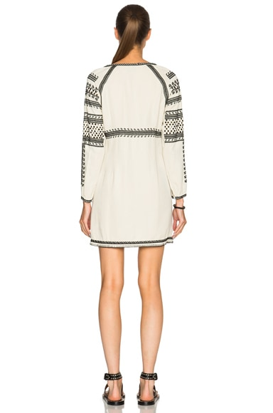 Embroidered Empire Dress