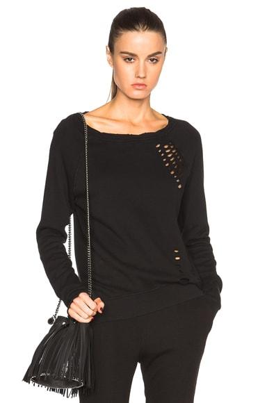 Pam & Gela Annie Hi Low Sweatshirt in Black