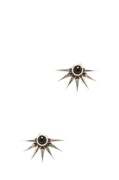 Sunburst Anique Plated Earrings