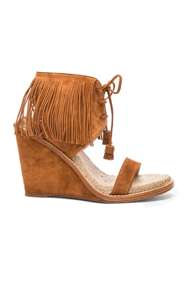 Paul Andrew Suede Shantou Wedges in Sichuan Brown